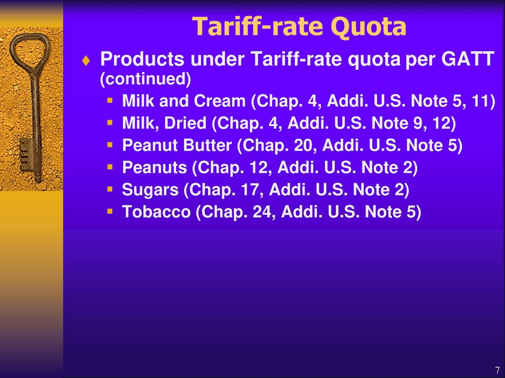 tariffs and quotas of product Items 183 - 191  share global affairs canada has issued a notification pertaining to tariff rate  quota (trq) on wheat and barley products advising on the closing.