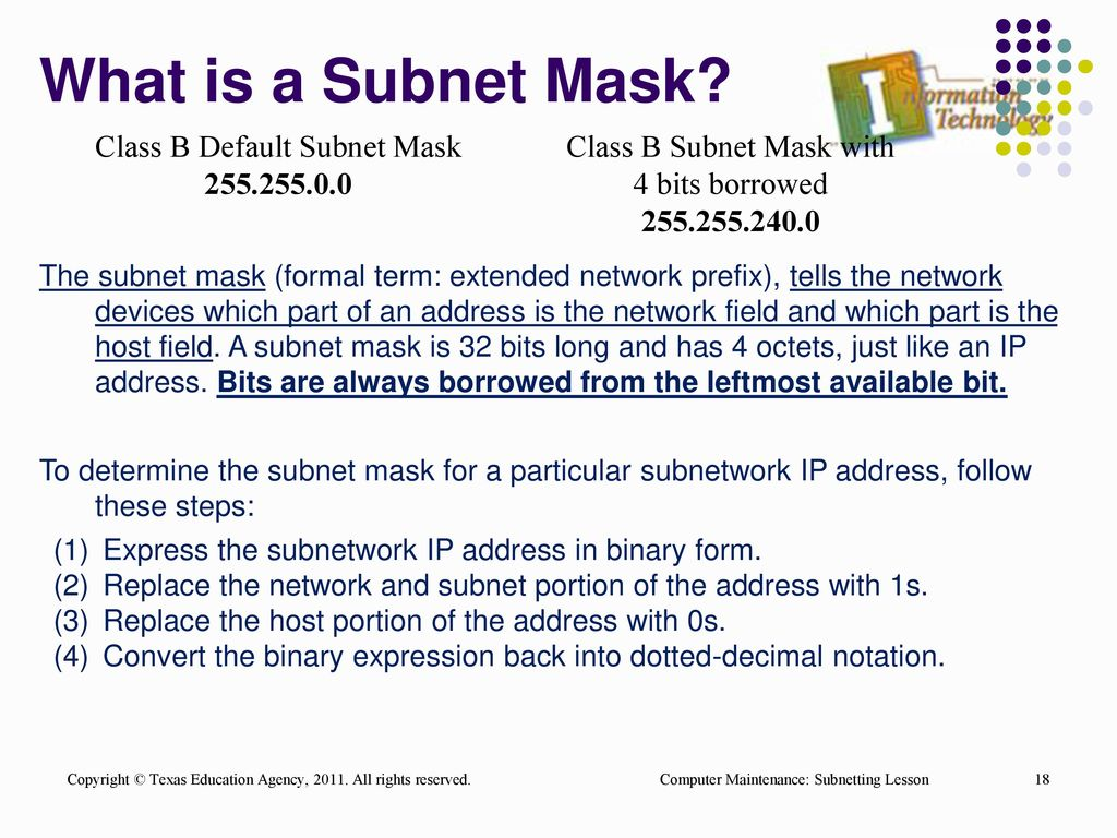 what is subnet mask pdf