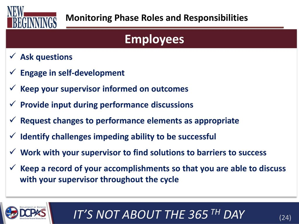 Employees Introduction To The Dod Performance Management