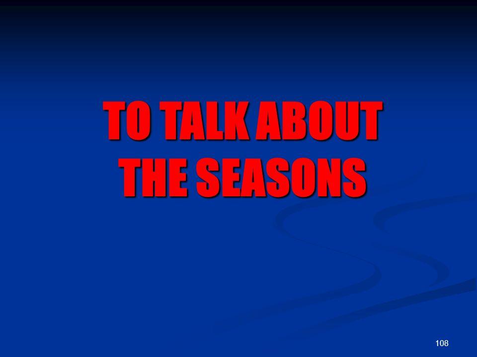 Les saisons de l'an the seasons of the year