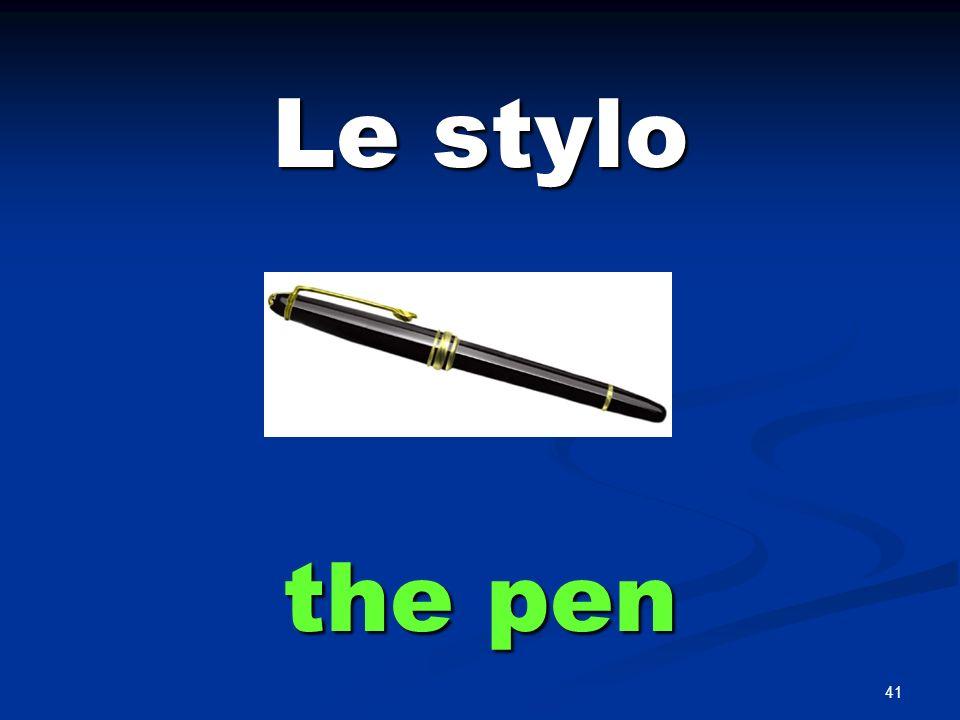 Le crayon the pencil
