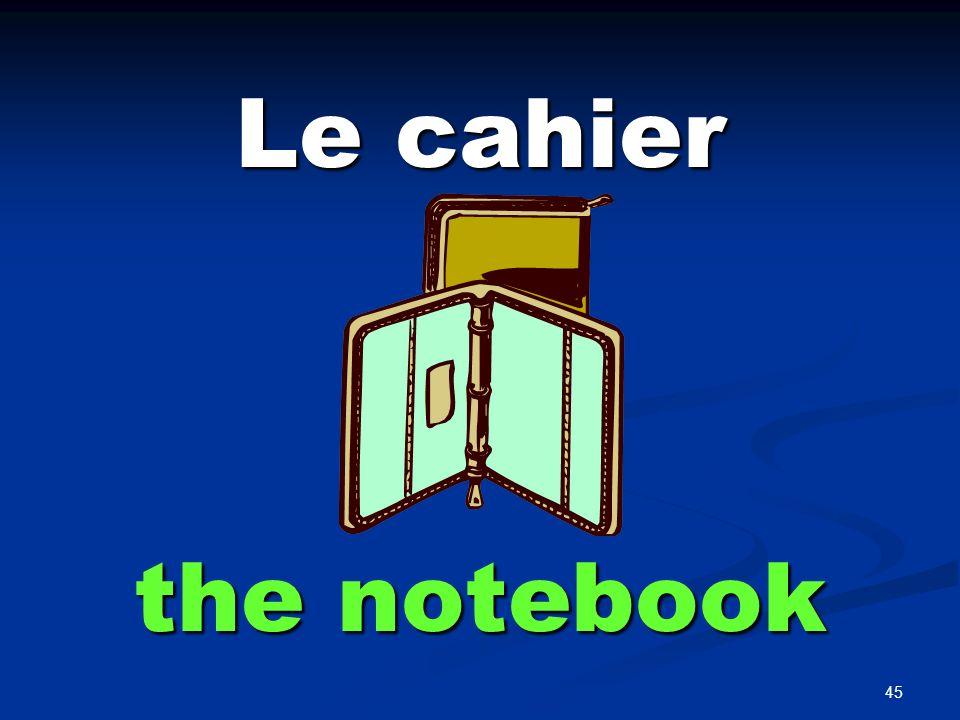 le pupitre the desk (student)