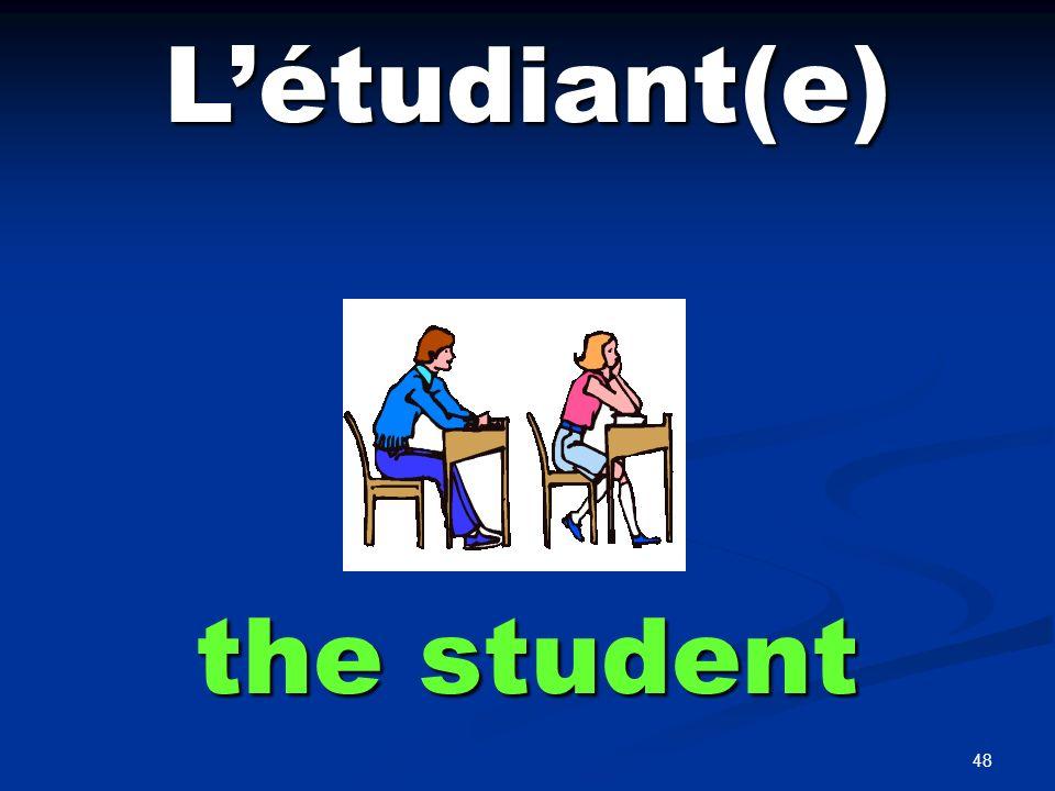 Le, La professeur the teacher