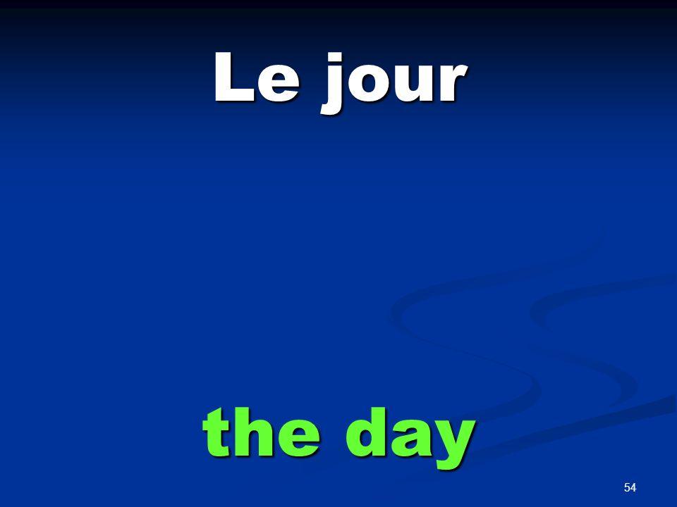 Le mois the month
