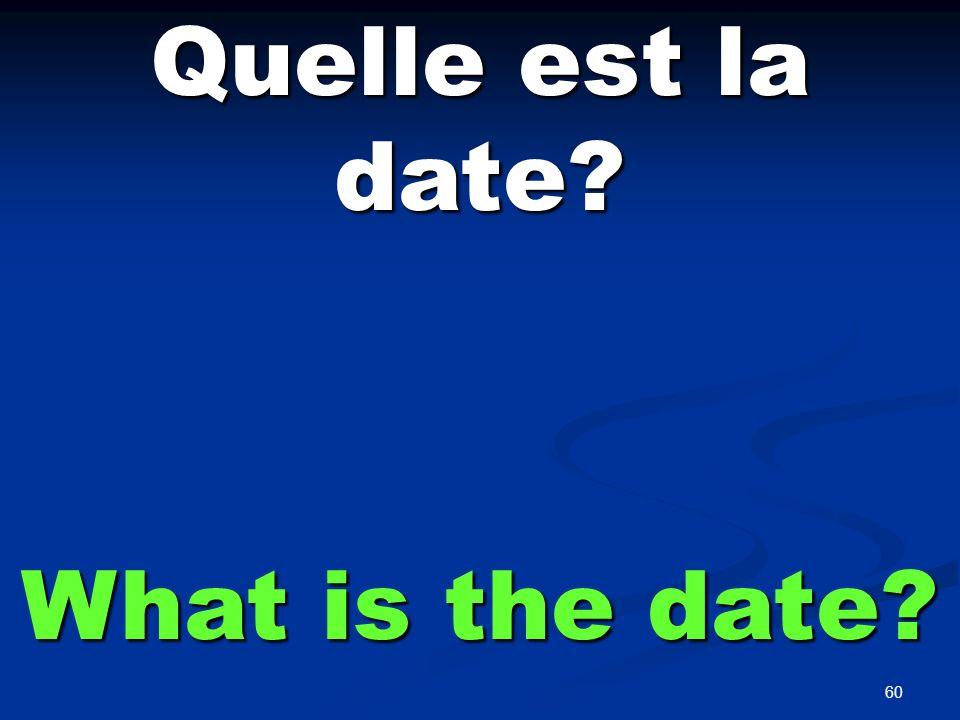 C'est le ___ _____ It is the ___ ___.