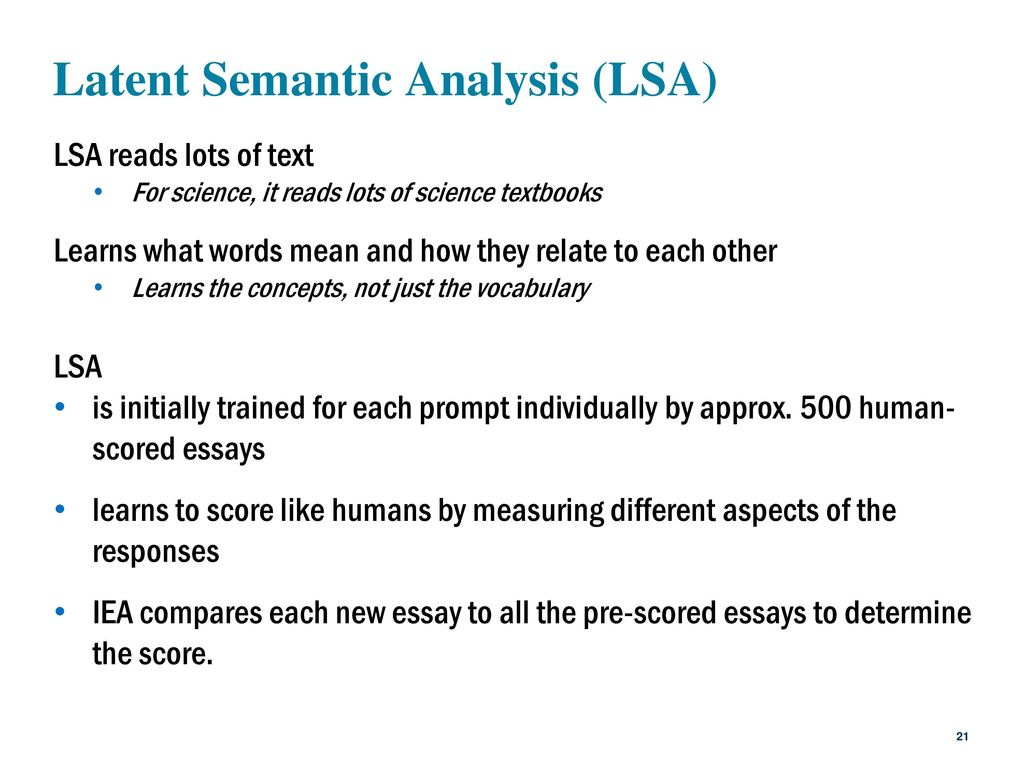 500 Essay Science Is A American Literature Essays Latent Semantic Analysis  %28LSA%29 500