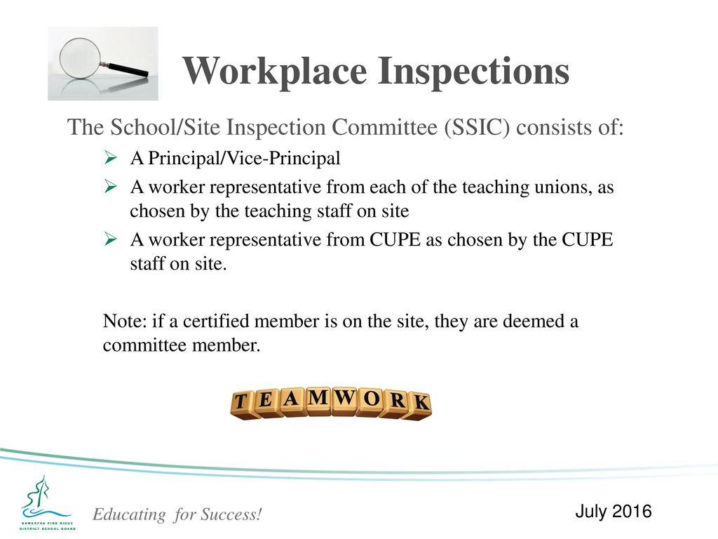 the importance of site inspection of a workplace Published: mon, 5 dec 2016 safety, health and environment are important thing in our workplace this is the top priority in every workplace something must need to be done to encourage employees, employer and industries to put safety, health and environment at the top of their agenda.