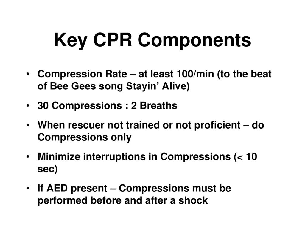 Patriot sports medicine extracurricular activity safety training key cpr components compression rate at least 100min to the beat of xflitez Gallery