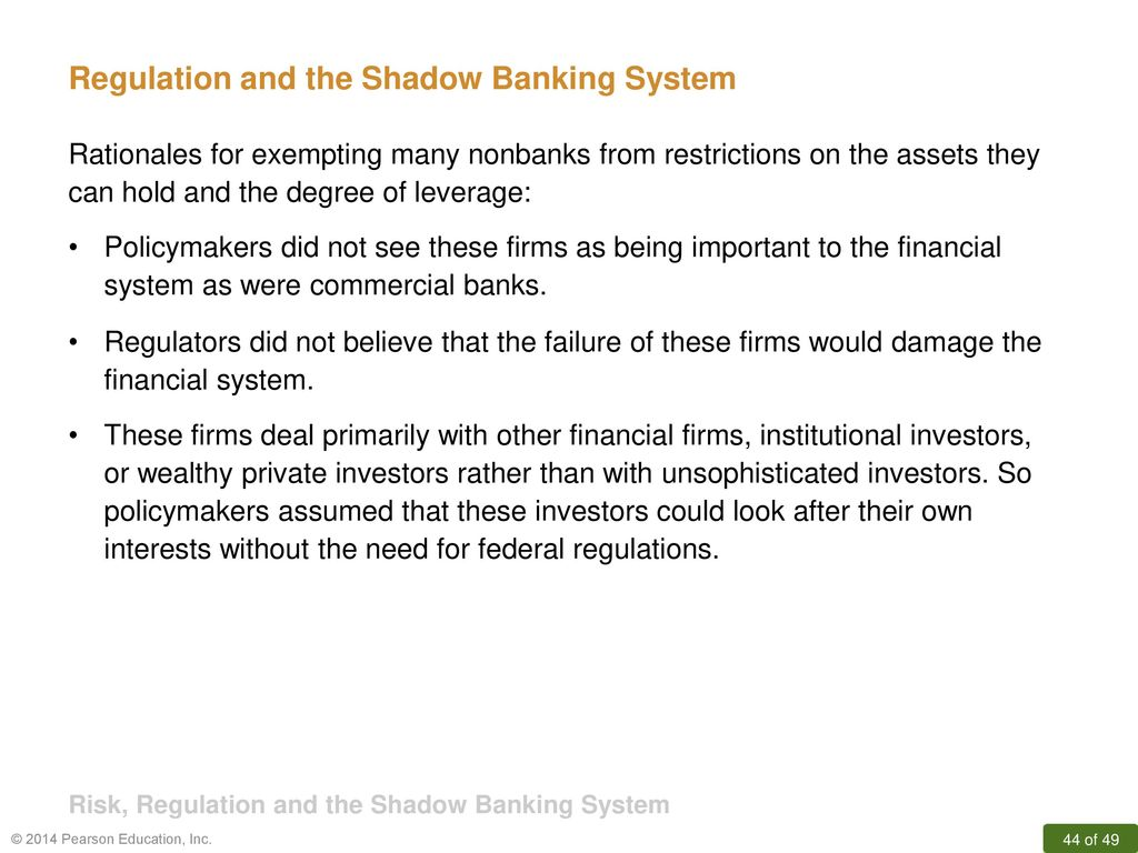 how should we regulate shadow banking Shadow banking regulation s y sta f adrian we define shadow banking activities as banking intermediation with liquidity and out public credit guarantees.