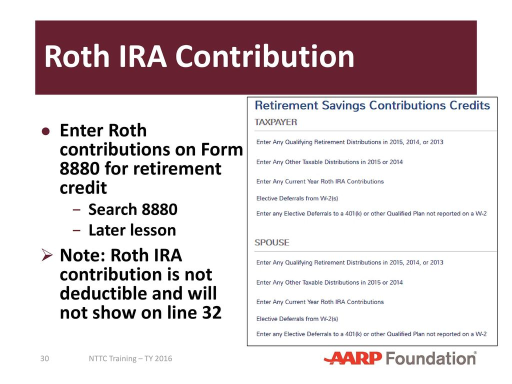 Adjustments to income pub 4491 lesson 18 pub 4012 tab e ppt roth ira contribution enter roth contributions on form 8880 for retirement credit search 8880 falaconquin