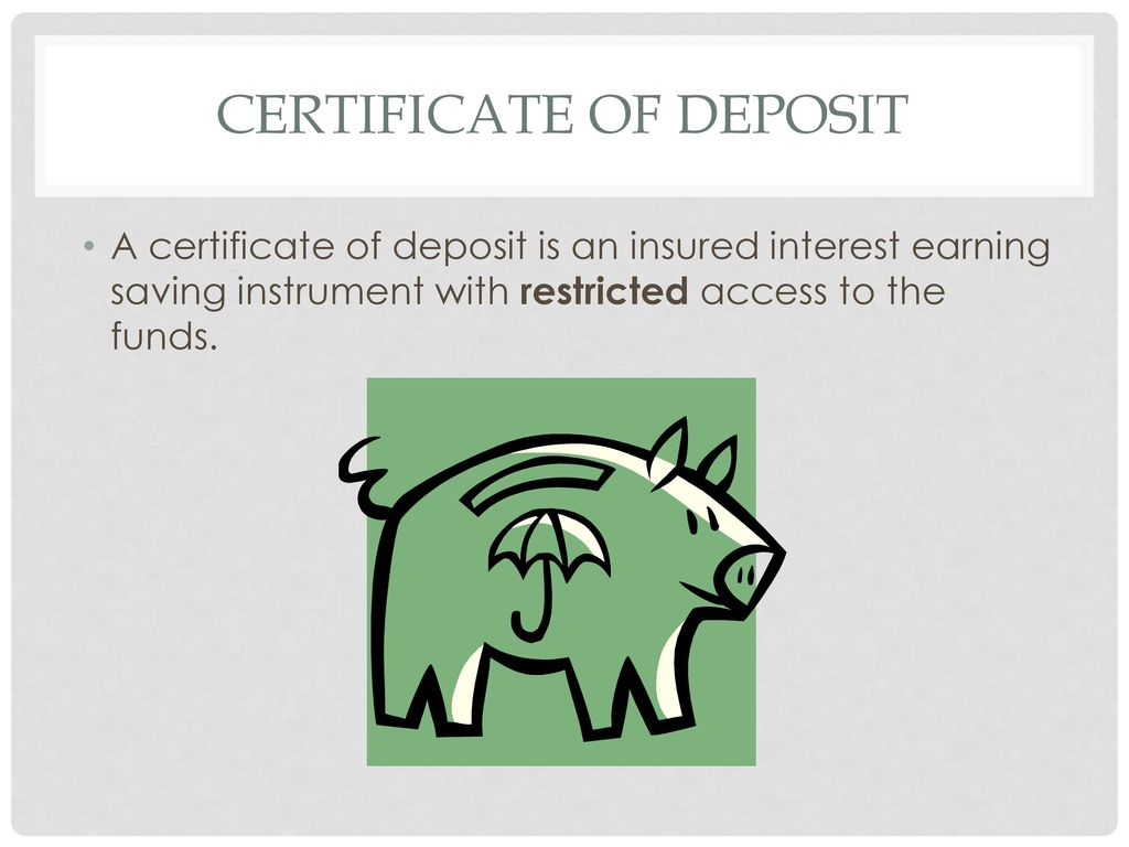 Personal finance semester review ppt video online download 59 certificate of deposit xflitez Gallery