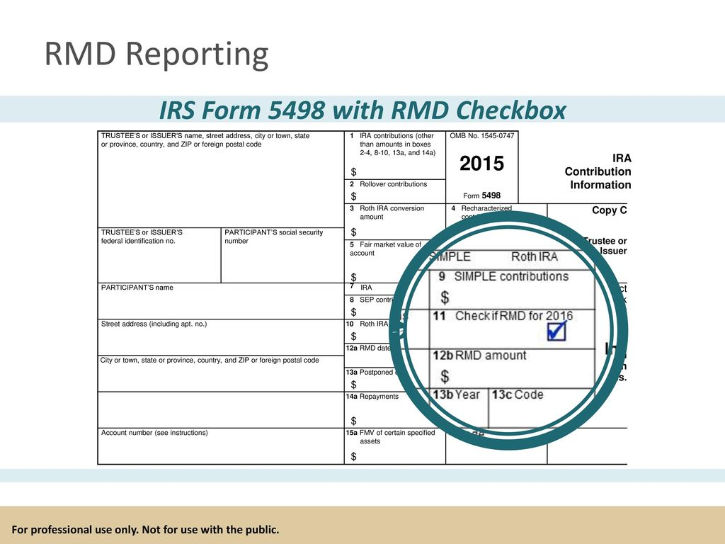 For professional use only not for use with the public ppt download irs form 5498 with rmd checkbox falaconquin