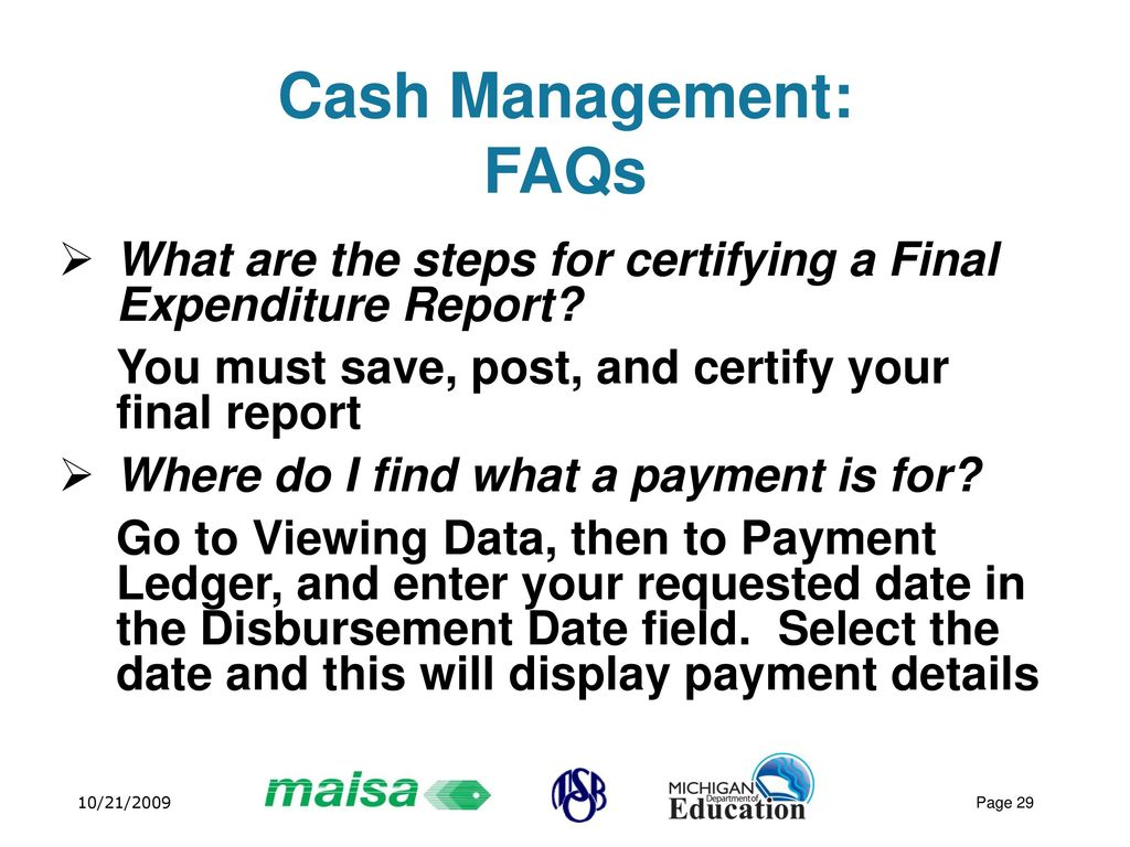 report on cash management Us office of personnel management  office of the inspector general  office of audits  final audit report subject: audit of  cash management activities for a.