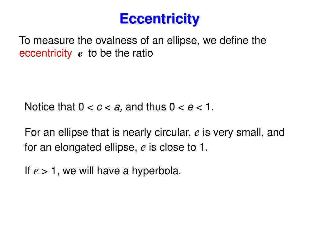 101 conics and calculus ppt video online download 9 eccentricity falaconquin