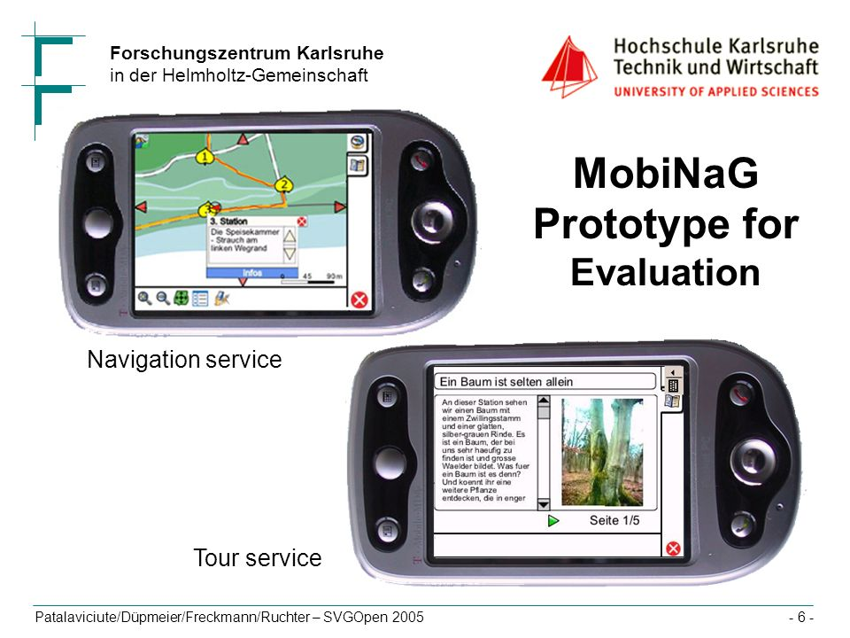 MobiNaG Prototype for Evaluation