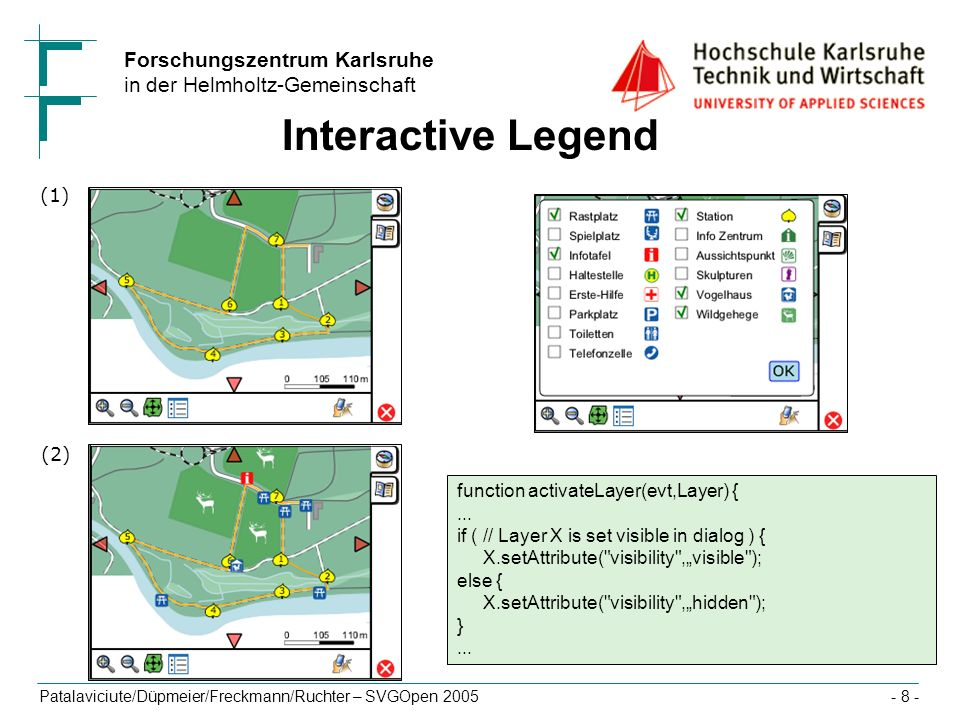 Interactive Legend (1) (2) function activateLayer(evt,Layer) { ...