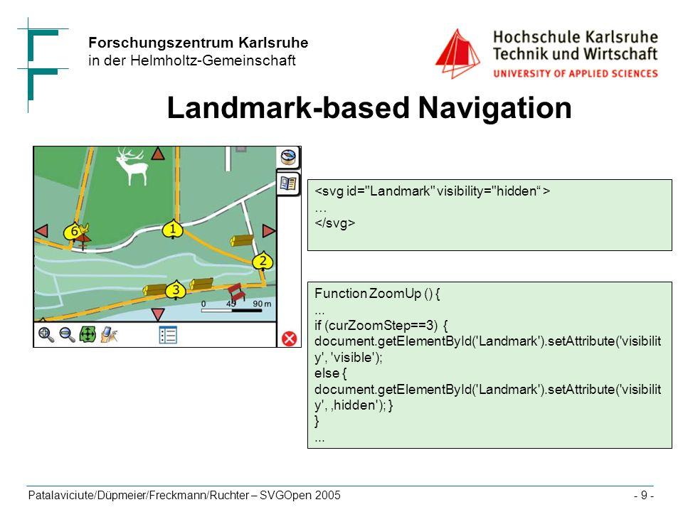 Landmark-based Navigation