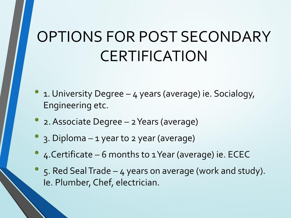Seaquam secondary grade 12 course planning ppt download options for post secondary certification 1betcityfo Image collections