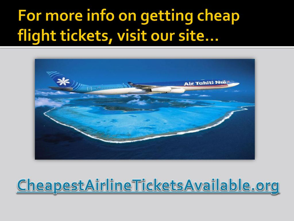 Where to book flight tickets online ppt video online for Site for cheapest flights