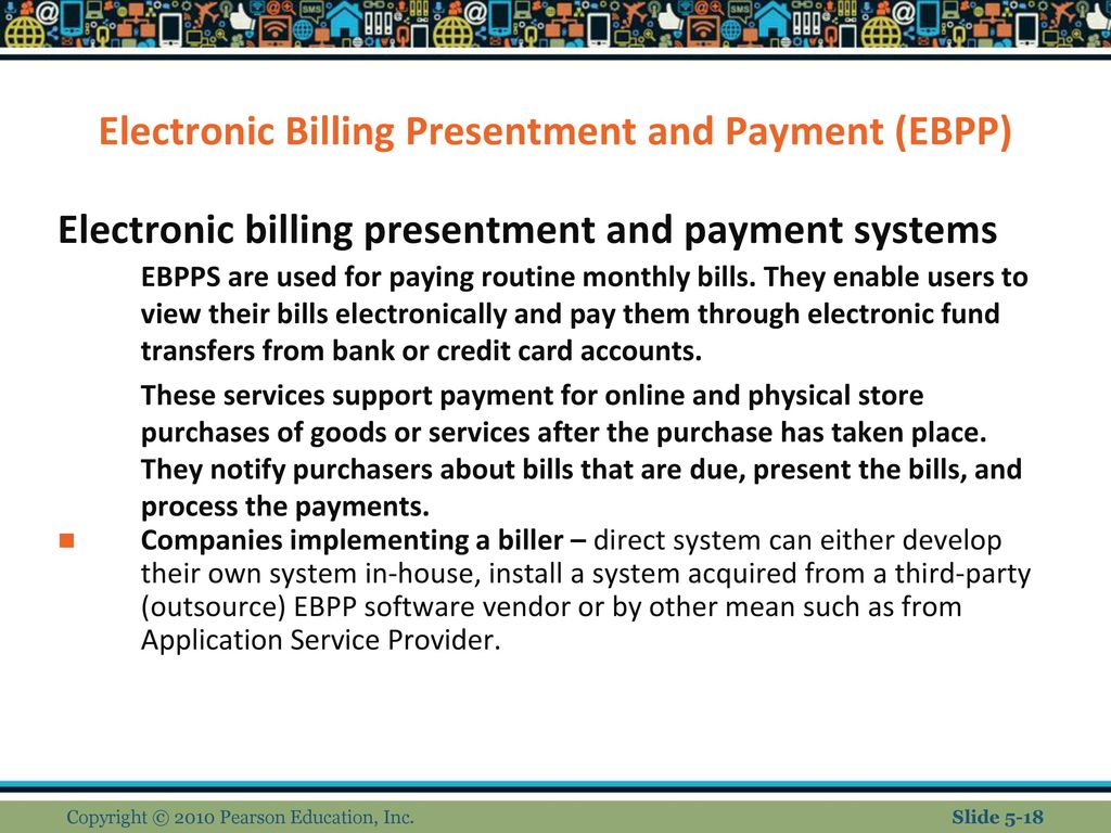 EBPP – Advantages of biller-direct payment systems