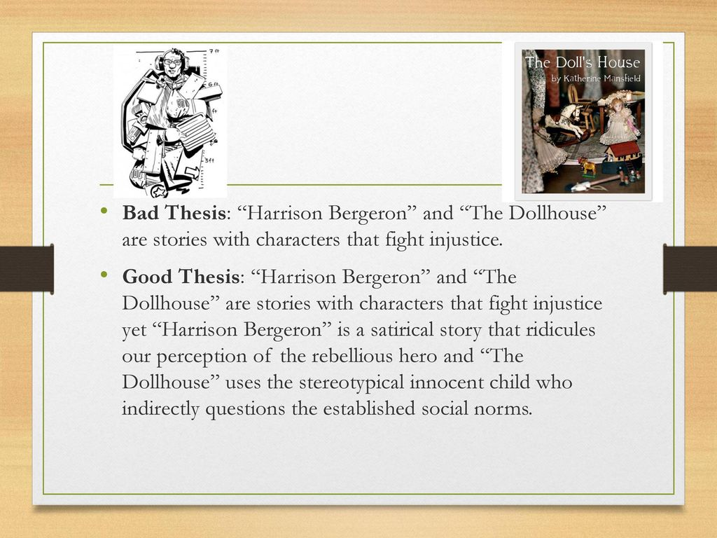 thematic comparison of harrison bergeron and