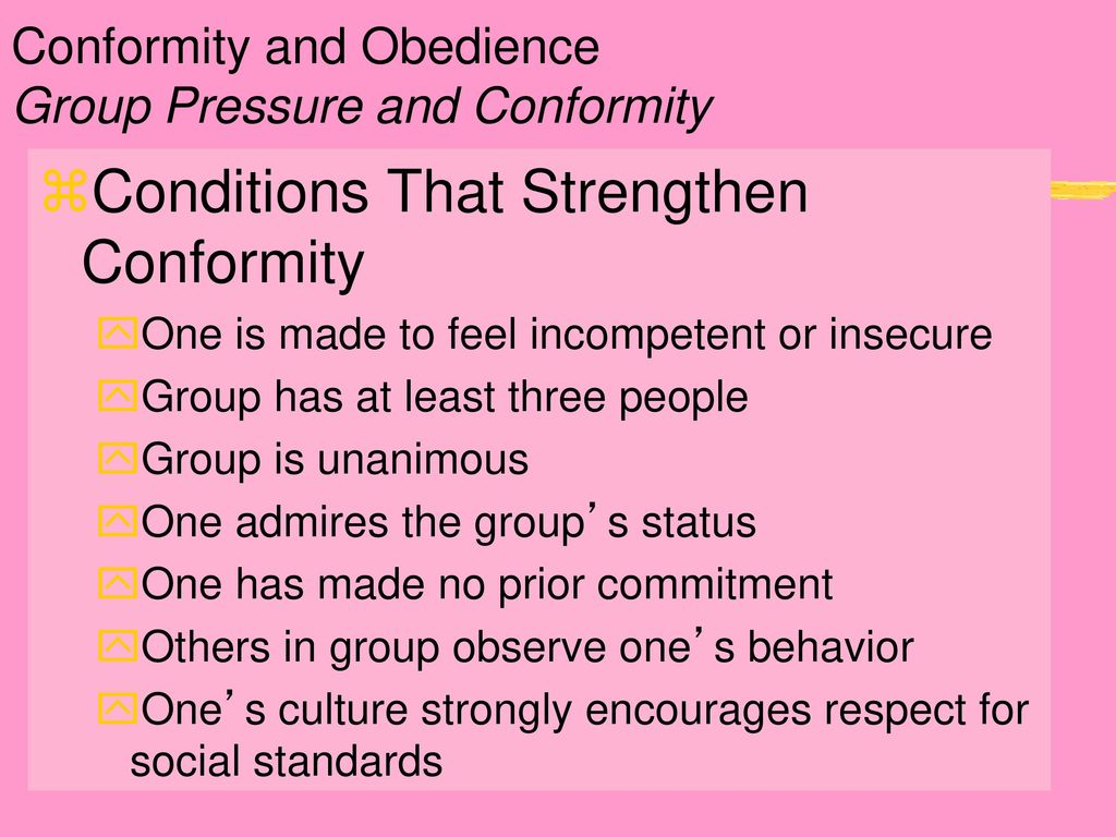conformity and people Asch suggested that people conform because they want to fit in with a group it's  either because they want to be liked, or because they believe.