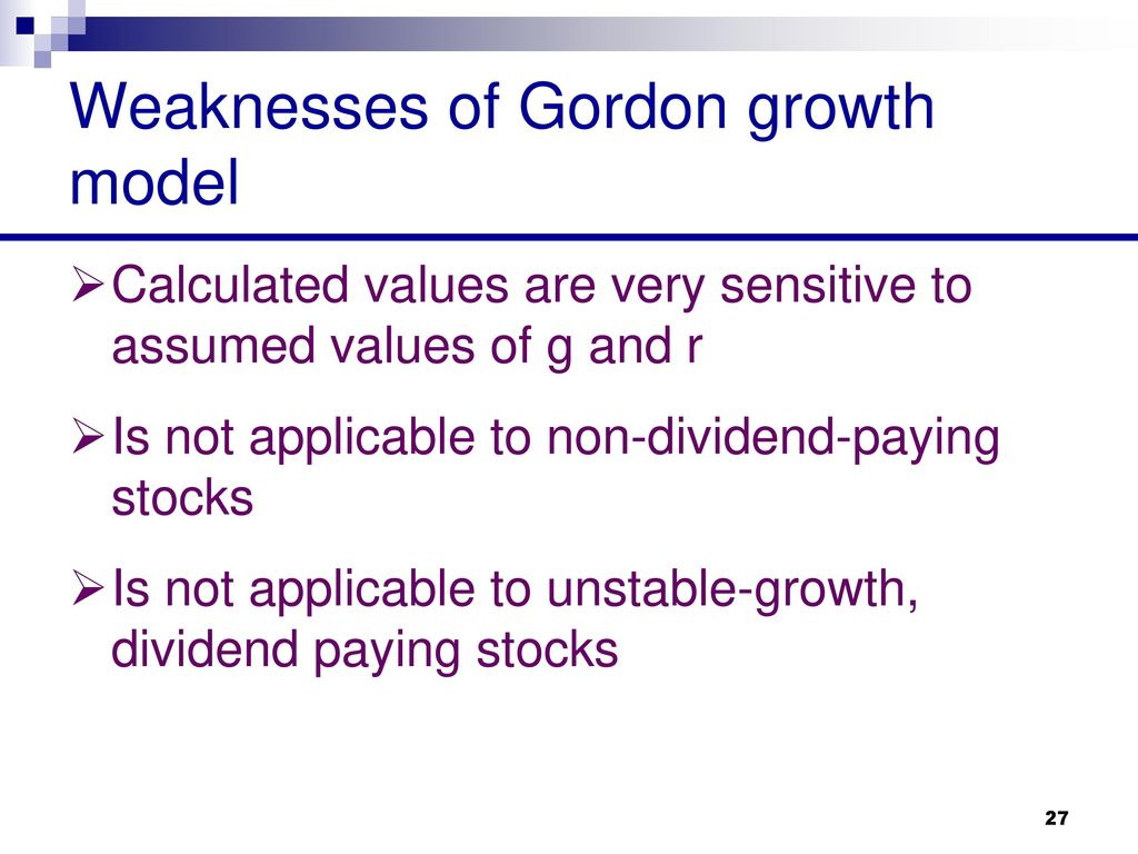 Chapter 2 Discounted Dividend Valuation Equity Asset Valuation