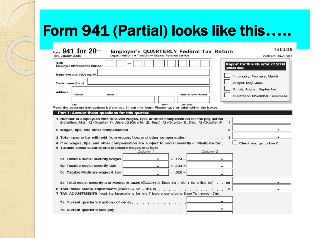 Employer taxes payments and reports ppt download 17 form falaconquin