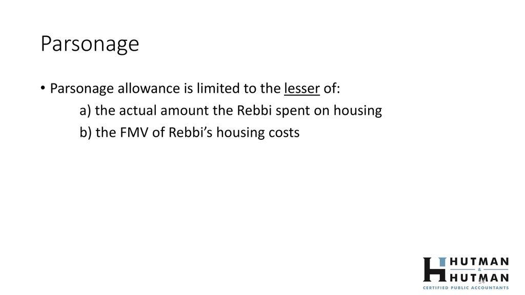 Clergy Housing Allowance Designation Form