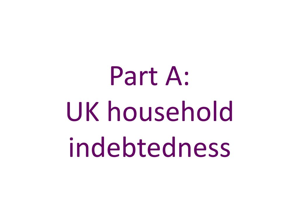 Part A: UK household indebtedness