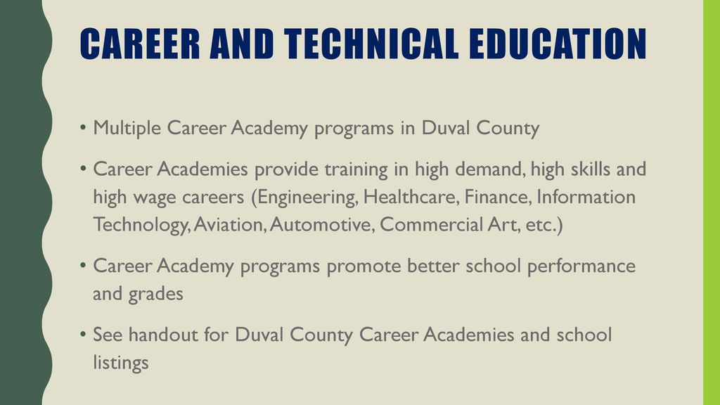 21 Career and Technical Education