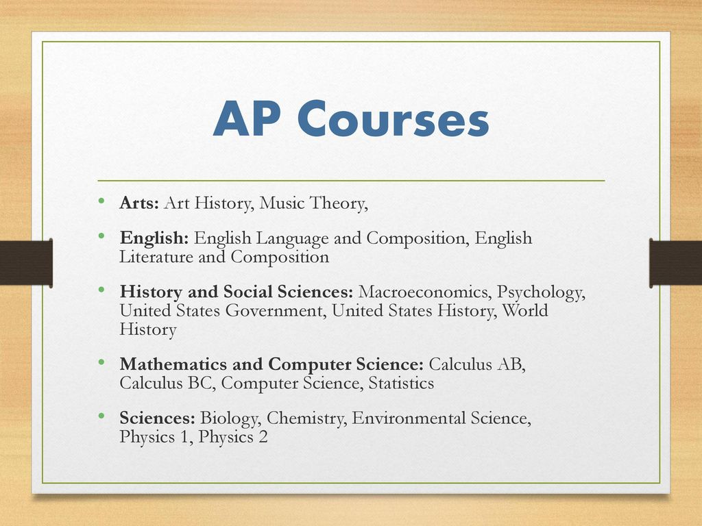 Computer Science Is To Biology What Calc By Harold: The Basics Advanced Placement Program® (AP®) Courses Are