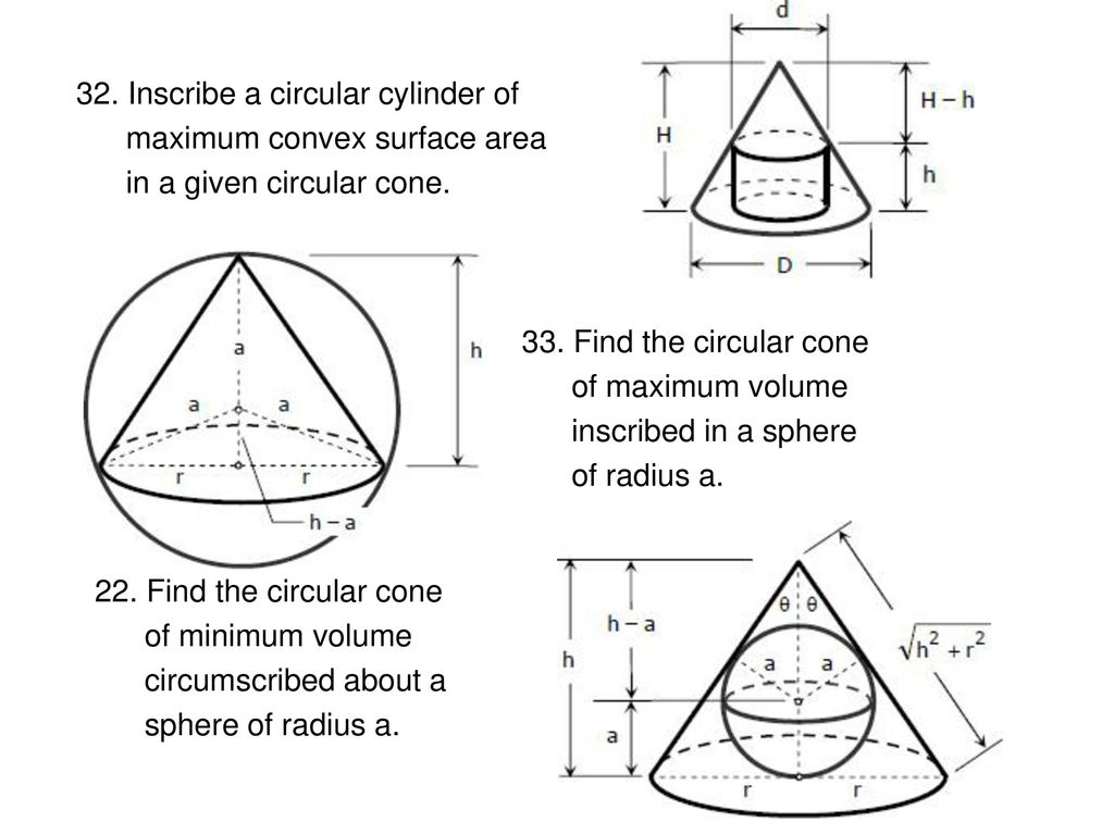 how to find the maximum volume of a cone