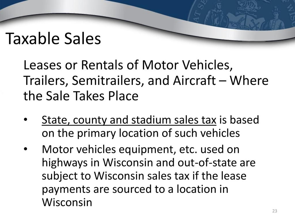 Wisconsin Sales And Use Tax Ppt Download