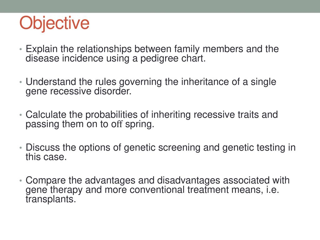 Pedigree case studies case study 1 case study ppt download objective explain the relationships between family members and the disease incidence using a pedigree chart geenschuldenfo Images