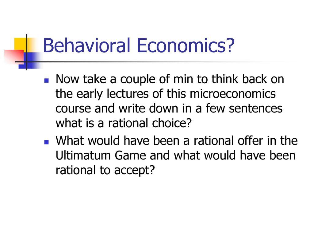 behavioural economics courses