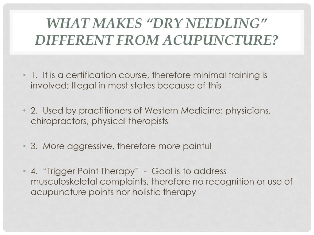 Aerin couvillion licensed acupuncturist ppt download what makes dry needling different from acupuncture 1betcityfo Images