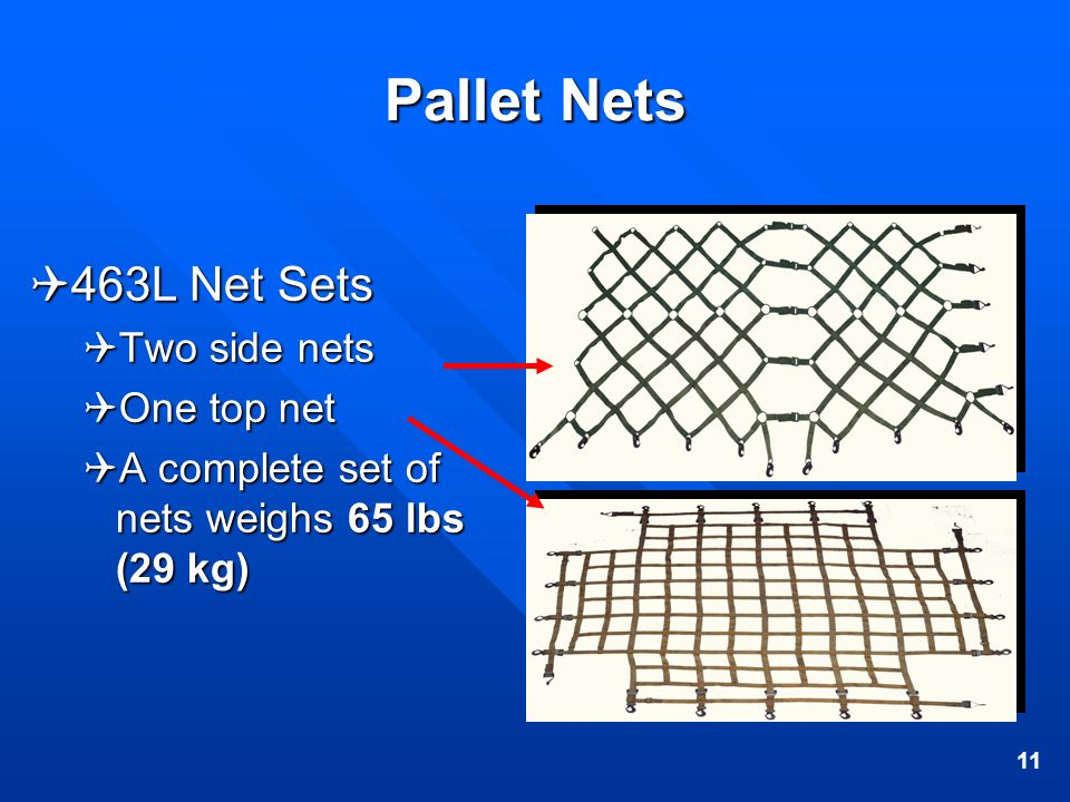 Pallet Nets 463L Net Sets Two side nets One top net