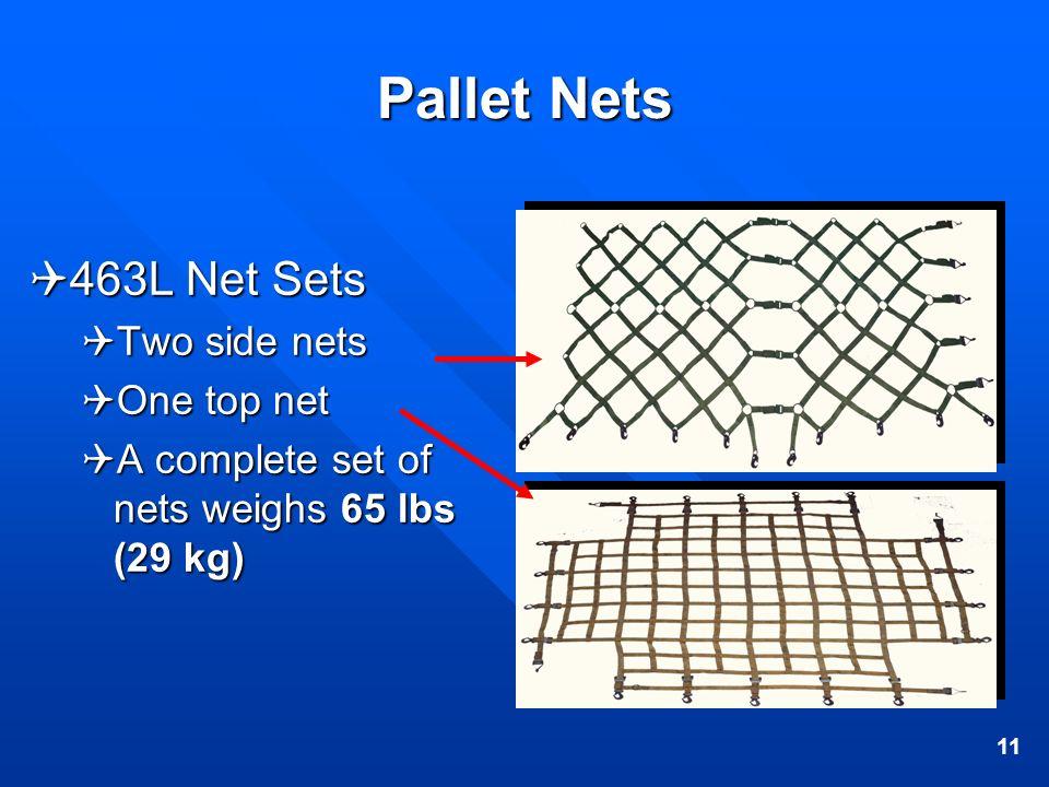 Pallet Nets 463L Net Sets Two side nets One top net