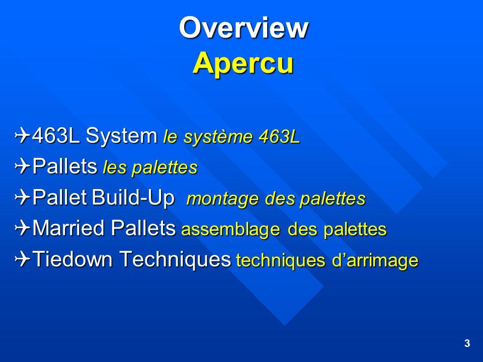 Overview Apercu 463L System le système 463L Pallets les palettes