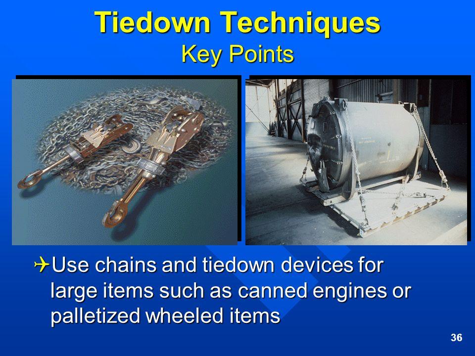 Tiedown Techniques Key Points