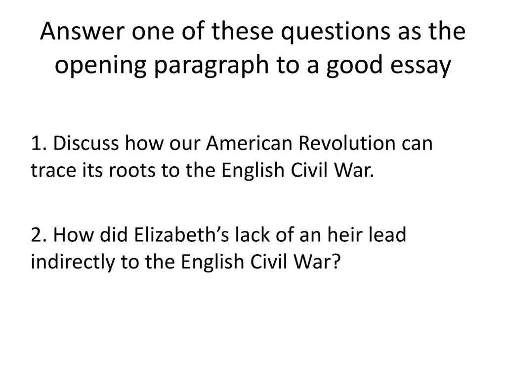 Origins of the english civil war essay