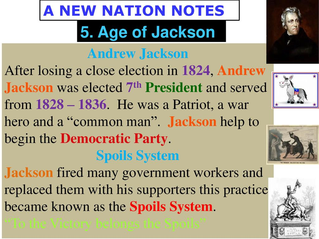 notes about andrew jackson Start studying chapter 14: andrew jackson notes and vocabulary learn vocabulary, terms, and more with flashcards, games, and other study tools.