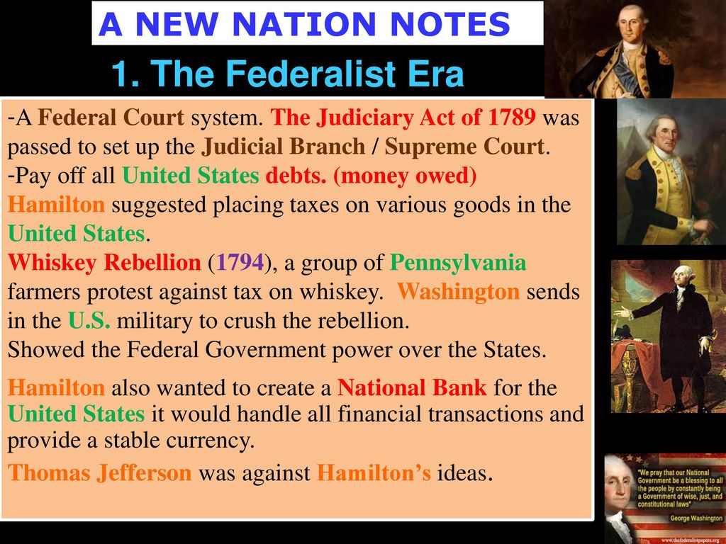 federalist era The era of good feelings and the two-party system 23a the era of good  the war of 1812 closed with the federalist party all but destroyed.