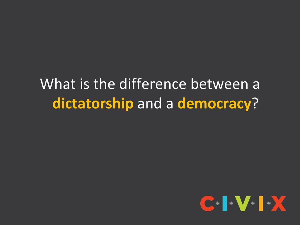 a comparison of democracy and dictatorship Dictatorship vs democracy in terms of governance and operational reformation, there are lots of striking differences between a pure democracy and its other end which is popularly known as a dictatorship.