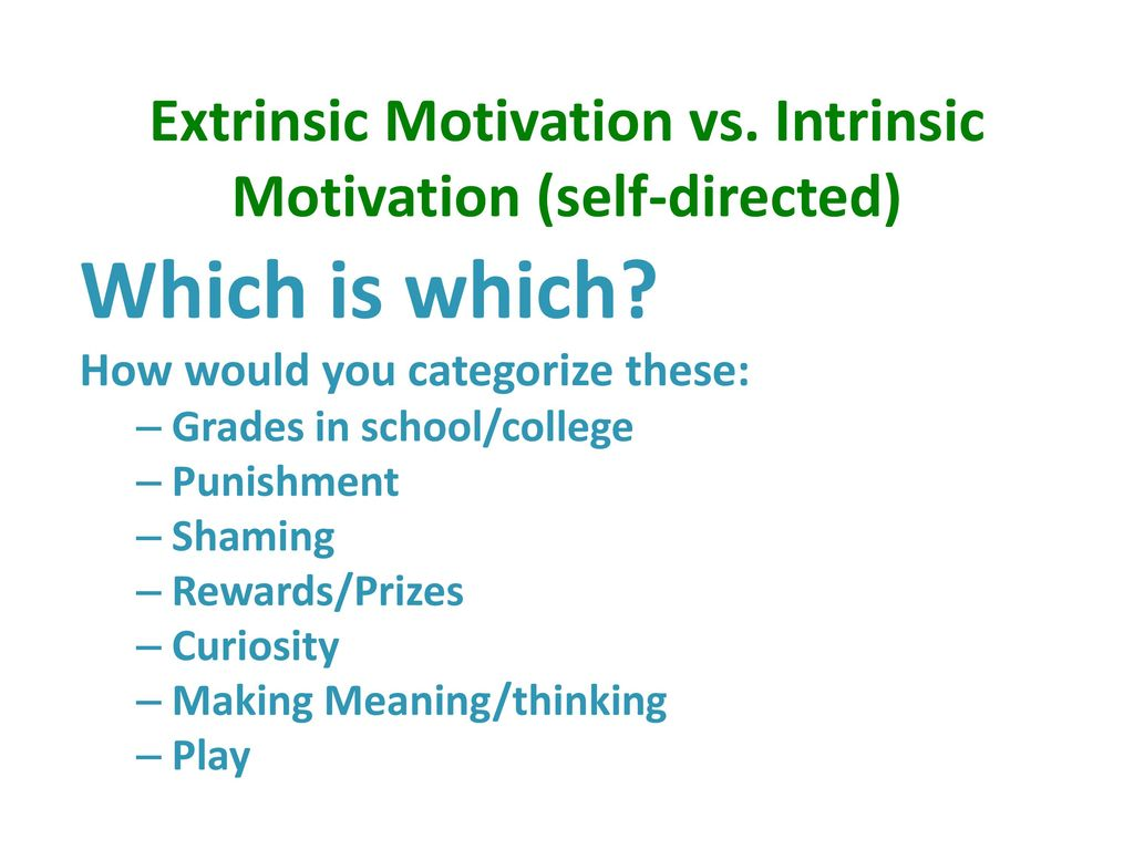 Extrinsic Vs Intrinsic Motivation Neuro-Exploration: Why...