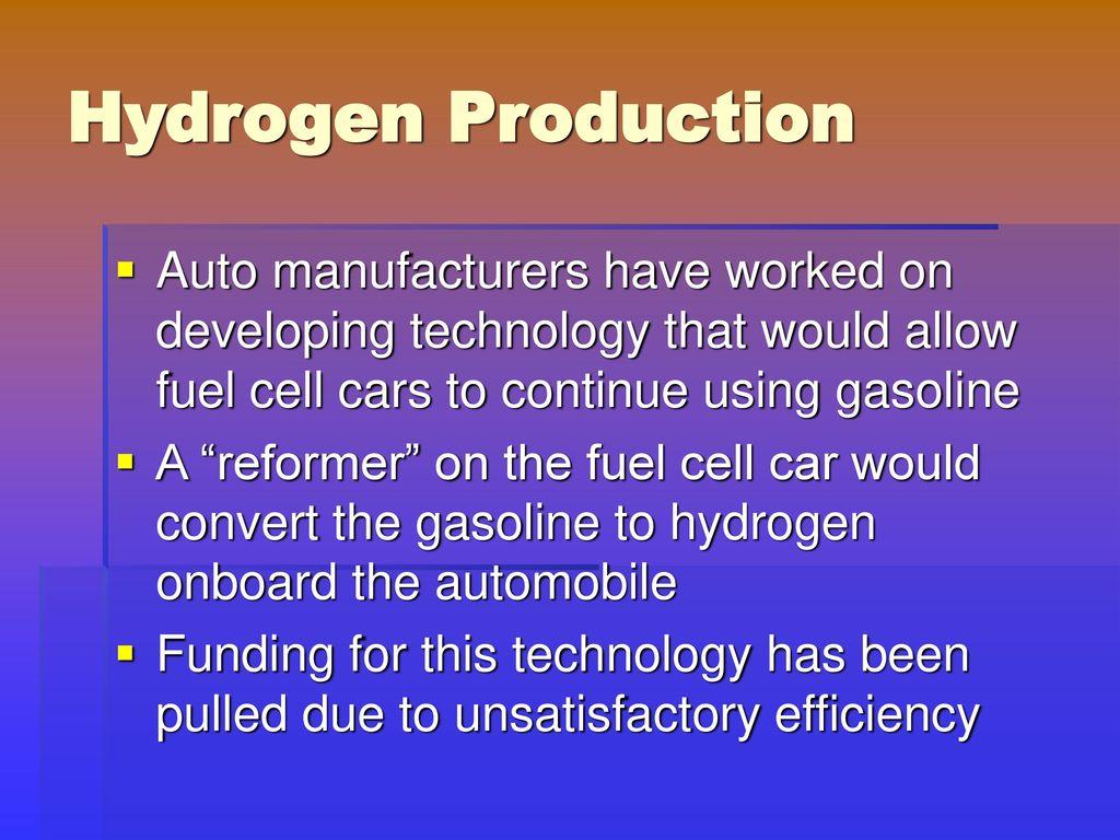 hydrogen fuel cell technology pdf