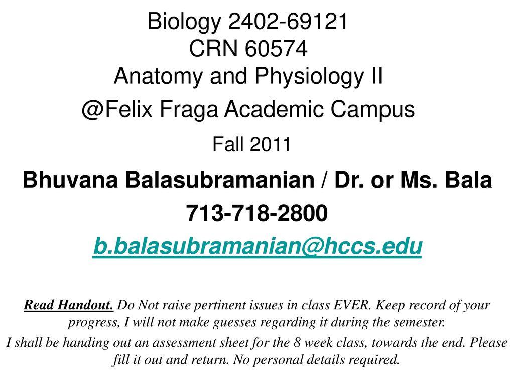 Bhuvana Balasubramanian / Dr. or Ms. Bala - ppt download
