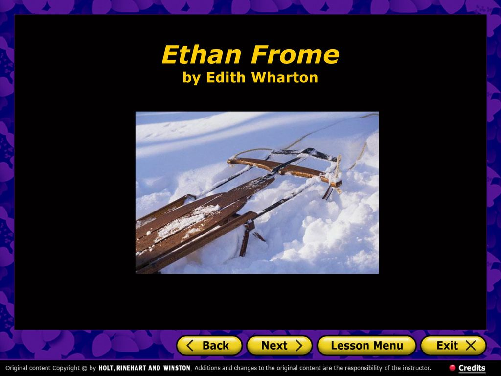 ethan frome by edith wharton The public television types at american playhouse have made a watery gruel of  edith wharton's popular 1911 novella, ethan frome a tragedy of wasted lives.