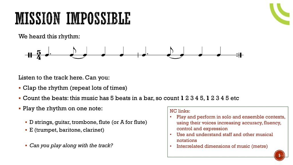 Piano mission impossible piano sheet music : Teacher Resource Pack ppt video online download